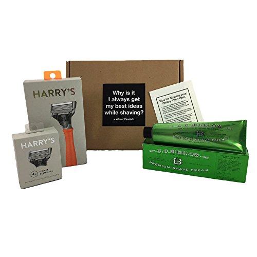 harrys-shaving-gift-box-kit-mens-orange-razor-2-razor-cartridges-and-travel-blade-cover-package-of-4