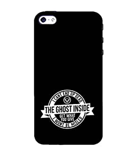 EPICCASE black ghost Mobile Back Case Cover For Apple iPhone 4/4s (Designer Case)
