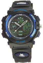 50m Water-proof Digital-analog Boys Girls Sport Digital Watch with Alarm Stopwatch Chronograph (Blue)