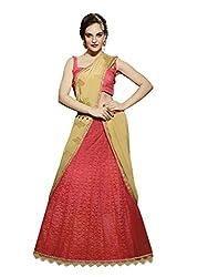 Fashionate Net Pink Lehenga Saree