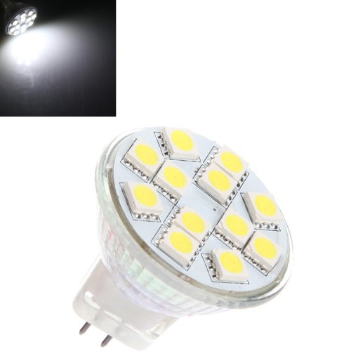 Mr11 3.5W Pure White 12 Smd 5050 Led Spot Light Bulb Lamp 12V