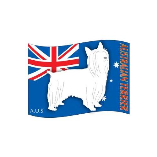 犬 ステッカー 「はた」 オーストラリアンシルキーテリア Lサイズ