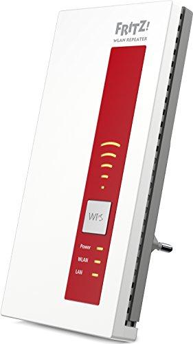 AVM FRITZ!WLAN Repeater 1750E - Dual-WLAN AC + N bis zu 1.300 MBit/s 5 GHz + 450MBit/s 2,4 GHz