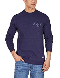 Quiksilver Men's Poly Cotton Sweatshirt (3613370619542_EQYFT03188_Small_Medieval Blu)