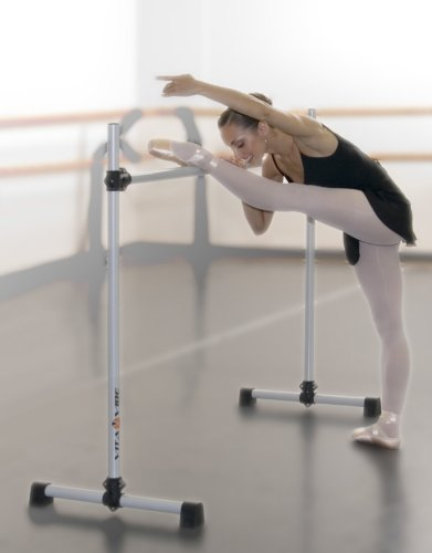 Vita Vibe Ballet Barre - B48 4ft Portable Single Bar - Freestanding Stretch/Dance Bar - Made in the USA
