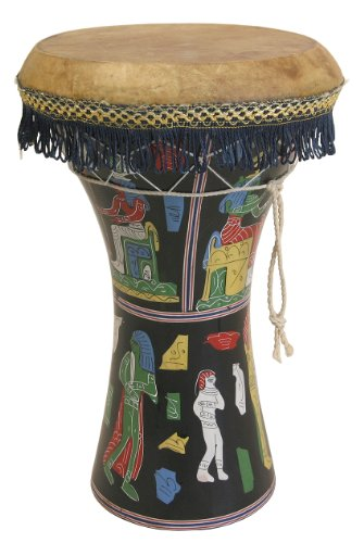 """Mid-East Large Pretuned Pharaonic Wooden Doumbek 12""""x17"""""""