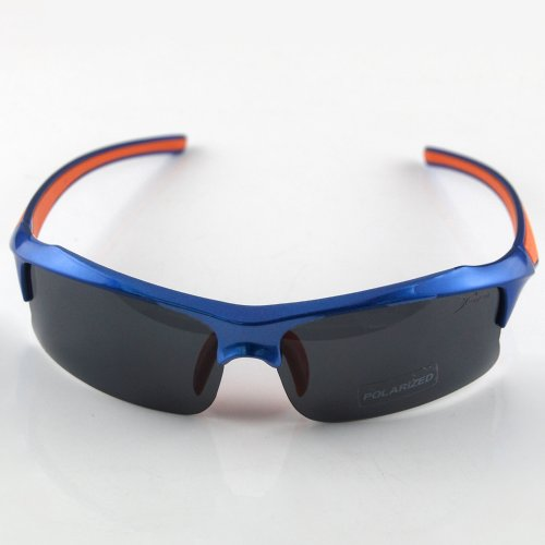 THG PC Resin Smoked Lens Polarised UV400 Cycling Wrap Running Outdoor Sports Sunglasses With Black Case