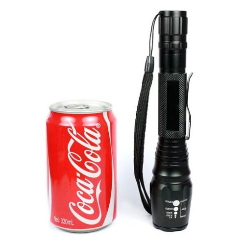 Doinshop Fashion Black Outdoor Living New T68 Cree Zoomable Xml T6 Led 1600Lm Flashlight Torch Light 5 Modes