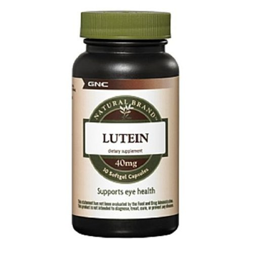 Gnc Natural Brand Lutein, 40Mg, Softgel Capsules, 30 Ea