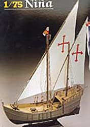 Heller Christopher Columbus Nina Boat Model Building Kit