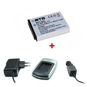 Batería + Cargador EN-EL12 para Nikon Coolpix S620, S630, S640, S710, S800c, S1000pj