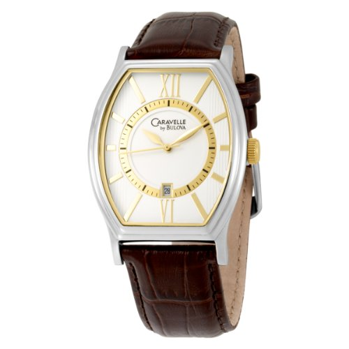Caravelle by Bulova Men's 45B111 Strap WatchSilver/White Dial