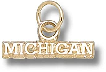 Michigan Wolverines Michigan Charm - 14KT Gold Jewelry by Logo Art