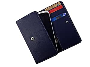 ATV PU Leather Yale BLUE Pouch Case Flip Cover For Motorola Moto X Style