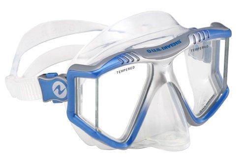 U.S. Divers Adult Lux LX Purge Snorkel Mask (Elect. Blue)