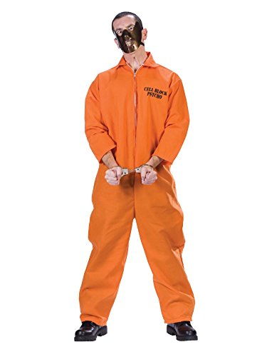 Mens Cell Block Inmate Costume Adult Prisoner Convict XXL