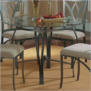 Cheap Steve Silver Madrid Round Casual Dining Table with Glass Top (SR300XX)