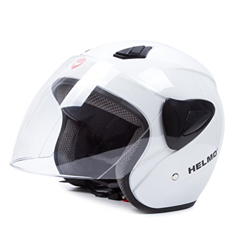 Open Face Motorcycle Helmets Scooter Helmets Flip up Helmets with Shield White (Pink Open Face Motorcycle Helmet compare prices)