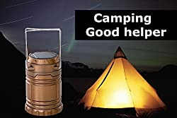 Solar Rechargeable 6 LED Lantern Light Portable Solar Panel Light+ POWERBANK 6 LED Camping Lantern lamp Outdoor Light with AC Charging Wire Bright Camping Light torch GENUINE IMPORTED Solar Power Charged Light