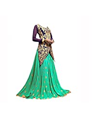 Ruda Navy Blue Color Cotton Silk Lehenga Style Designer Dress DR1537