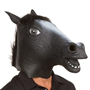 Giant Animal Masks by Allures & Illusions - Black Horse Head Costume Mask