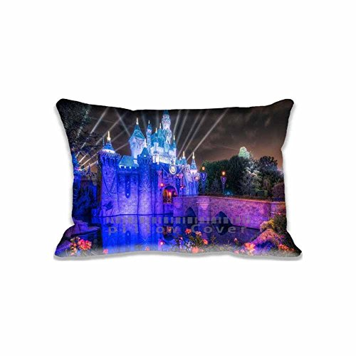 Custom Design Castle Pillow Cases Zippered , Standard Queen Size United States Pillowcase - 20X30inch California Cushion Covers Two Size Print (Disney World Pillow compare prices)