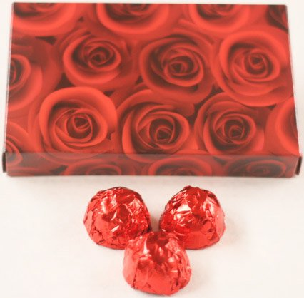 Scott's Cakes Dark Chocolate Covered Cherry Brandy Cherries in a 8 oz. Red Roses Box