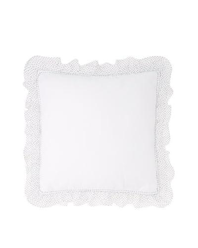 India Rose Susie Euro Sham, White, 26 x 26