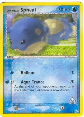 Pokemon - Team Aqua's Spheal (57) - EX Team Magma vs Team Aqua - Reverse Holo...