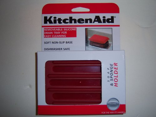 KitchenAid Empire Red Soap and Sponge Holder