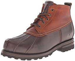 FRYE Men\'s Warren Duck Winter Boot, Espresso/Cognac, 9.5 M US