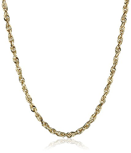 14k+Yellow+Gold+good+Diamond-Cut+Rope+chain+Necklace++2.5mm+++18+