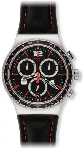 Swatch YVS404 - Orologio da polso uomo, pelle, colore: nero