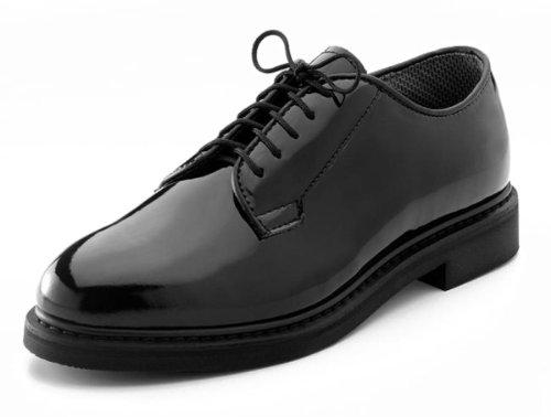 Mens Dress Shoes - Oxfords Uniform Hi-Gloss, Black, 15 Wide By Rothco