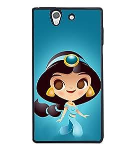 Princess 2D Hard Polycarbonate Designer Back Case Cover for Sony Xperia Z :: Sony Xperia C6603 :: Sony Xperia C6602 :: Sony Xperia Z LTE, Sony Xperia Z HSPA+