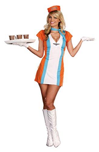 Dreamgirl Womens Uniforms Coffee Tea Or Me Vintage Styled Halloween Costume, M (6-10)