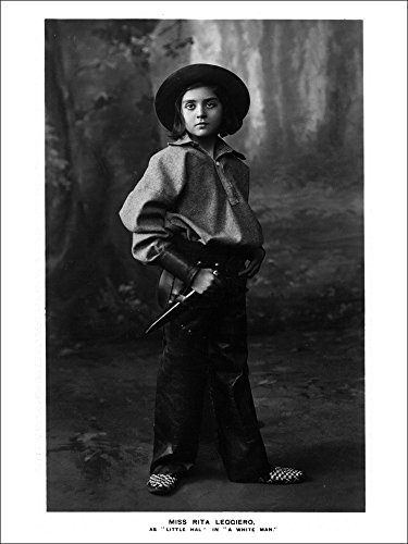Cowgirl Portrait - Miss Rita Leggiero Holding a Knife (Playing Card Deck - 52 Card Poker Size with Jokers)