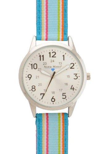 Cheap Striped Ribbon Watch Blue – Nurse Mates 918800 Blue (B005J6HV1Q)