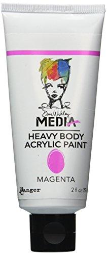 Ranger Dina Wakley Media Heavy Body Acrylic Paint, 2-Ounce, Magenta (Dina Wakley Paint compare prices)