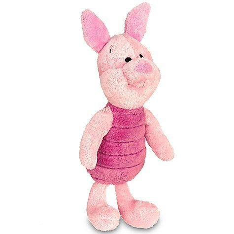 Disney Piglet Plush Mini Bean Bag Toy -- 7''