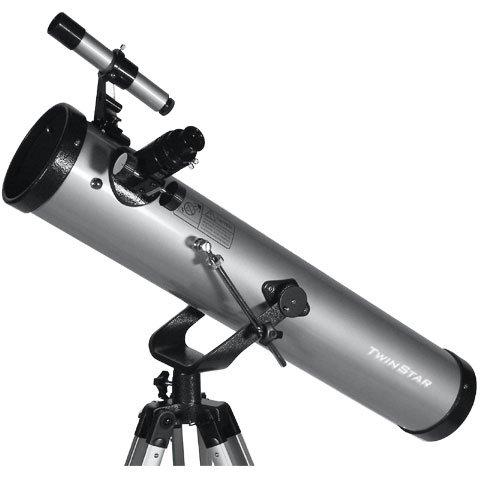 "Silver Twinstar Firststar 3"" Reflector Telescope Kids Pak Bundle"