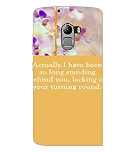 PrintDhaba Quote D-3722 Back Case Cover for LENOVO K4 NOTE A7010a48 (Multi-Coloured)