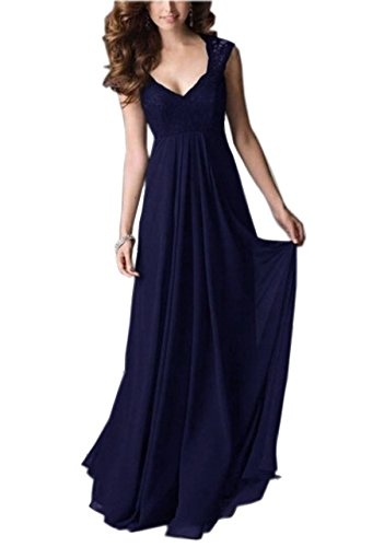 REPHYLLIS Women Sexy Vintage Party Wedding Bridesmaid Formal Cocktail Dress (XXL, Blue)