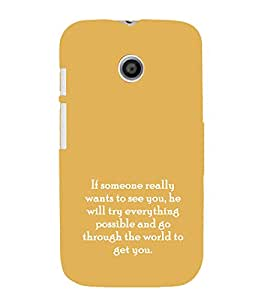 EPICCASE possible love Mobile Back Case Cover For Moto E (Designer Case)