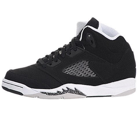 Images for Air Jordan V (5) Retro (Preschool) - Black / Cool Grey-White, 11 M US