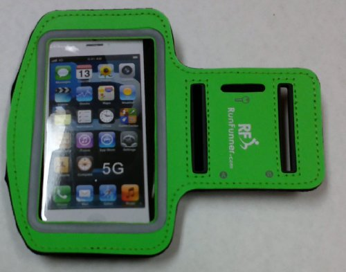 Iphone 5 Sports Armband Case - Sleek Protective Case Designed To Safely And Conveniently Carry An Iphone 5 / 5S / 5C On Your Arm - Perfect For Jogging, Walking, Gyms, Daily Activities - Lifetime Guarantee - (Glo-Green)