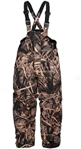 Lucky Bums Kid's Insulated Max4 Waterfowl Bibs, Large