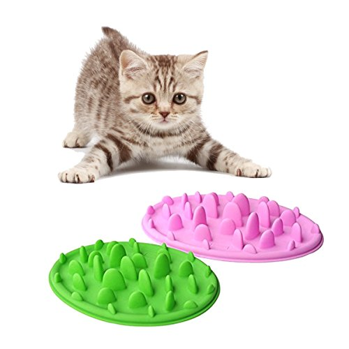 Slow Dog Bowl, FATPET® Set-2pc Pizza Design Pet Puppy Cat Dog Lose Weight Slow Feeder Bloat Non Slip Food Bowl Small (Slow Cat Feeder compare prices)