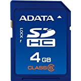 ADATA 4GB Class 6 SDHC Flash Memory Card ASDH4GCL6-R ~ A-Data USA