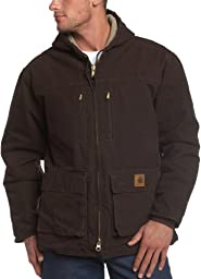 Carhartt Men\'s Jackson Coat Sherpa Lined Sandstone,Dark Brown,Large